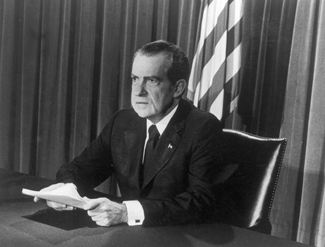 Nixon announces his resignation in the summer of 1974, just 40 years ago -- how quickly we forget.