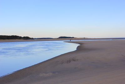 The channel at Seawall Beach, Phippsburg, Maine. Photo by Amanda Painter.