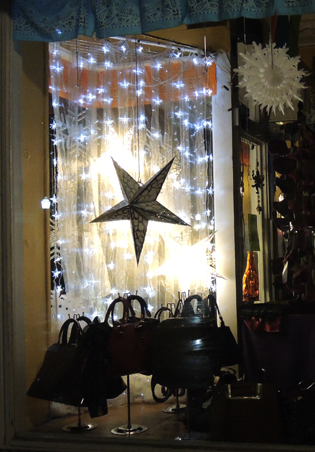Store decoration on Corner of Wall and John, Kingston, NY.