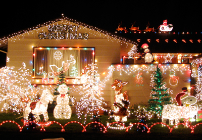 There's always one house in the neighborhood designed to prove how little Christmas spirit everyone else has.