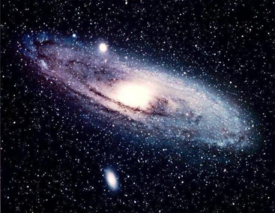 Spiral galaxy, looking a bit like our own home, the Milky Way, might appear if we could see it.