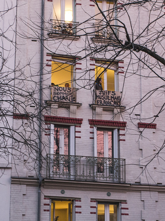 On the way to Place de la Nation, an apartment building on blvd Charonne. Photo by  Danielle Voirin.