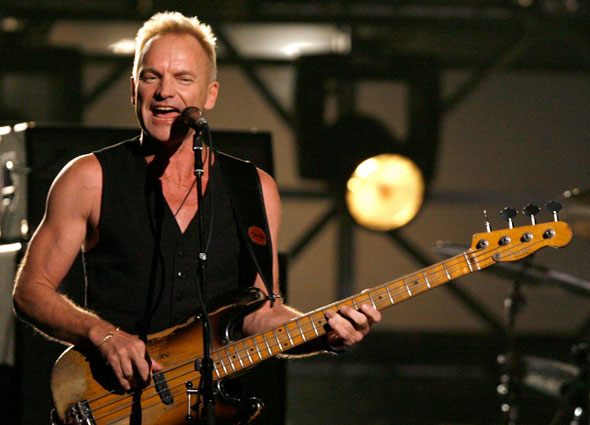 Sting makes a guest appearance on tonight's edition of Planet Waves FM.