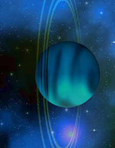 Illustration of Uranus by Corey Ford.