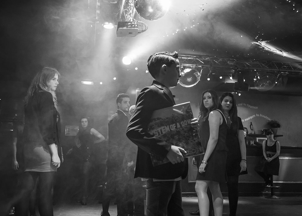 "Behind the scenes of a music video, recently shot in a club in Paris by Benoit Lelievre, for a song called ""I Just Let it Go,"" by Max Arthur featuring Dezmond Meeks (seen on America's Got Talent)."