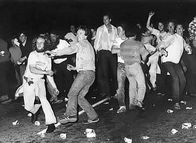 Another exciting moment from the Stonewall riots, which took place the night after gay men resisted a raid of their neighborhood bar.