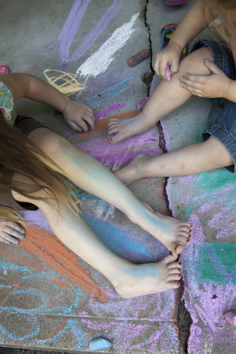 The colors of little girls at play.