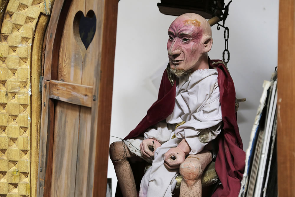 In the Zouak marionette workshop in Ganges, France, one of Alban Thierry's creations waits to be animated.