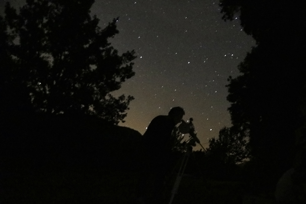 Midnight in the Cévennes mountains of France, patiently bringing the rings of Saturn into focus.