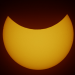 Photograph of corresponding partial solar eclipse last March by our man in Athens, Anthony Ayiomamitis.