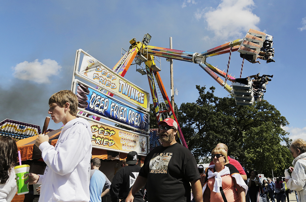 Scene from the annual Sandwich Fair, in Sandwich, Illinois.