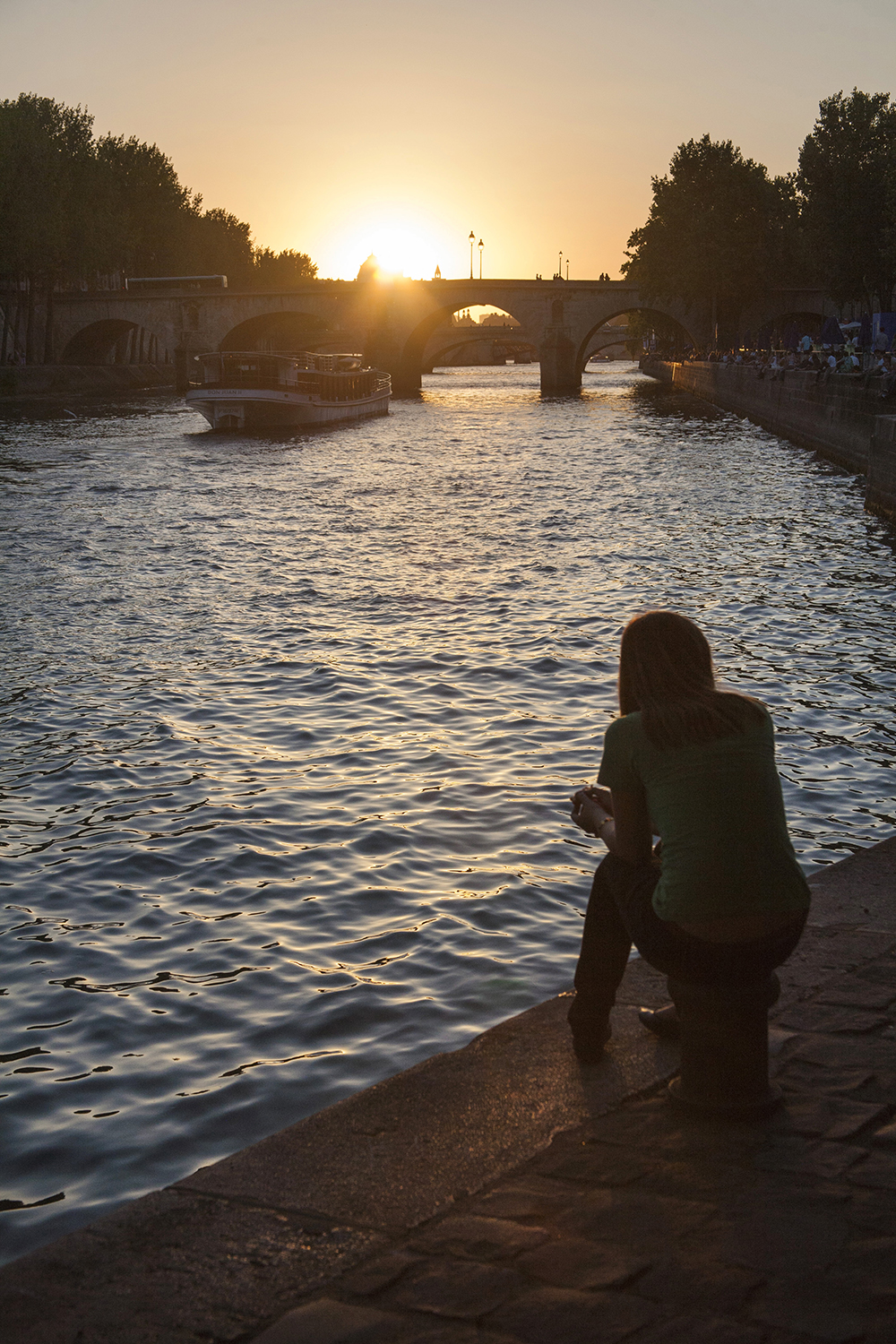 Sunset over the Seine, Paris.