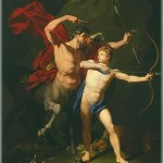 The Education of Achilles by the Centaur Chiron, by Jean-Baptiste Regnault (French, 1754-1829).