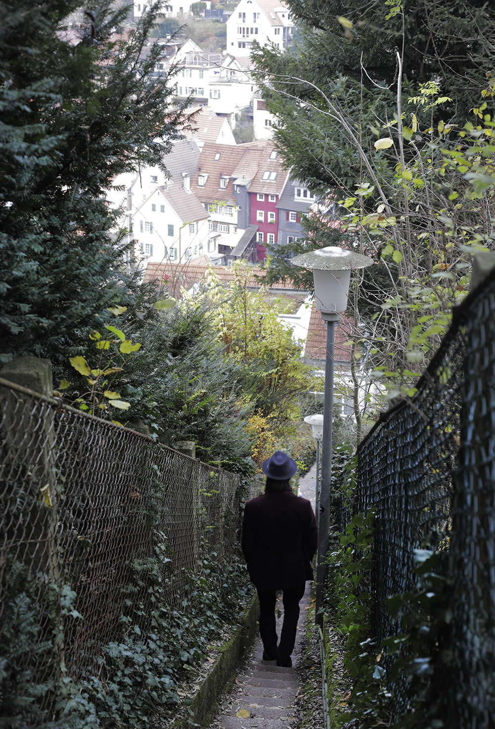 A pre-Thanksgiving dinner walk through the steep hills in Esslingen, Germany.