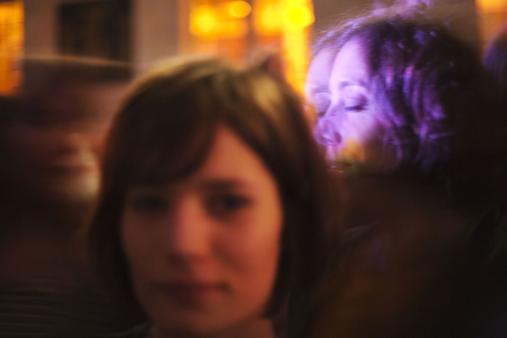 Three women at a party.