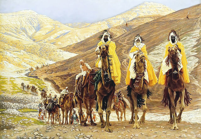 'The Journey of the Magi' by James Tissot, French. Watercolor, 1894.