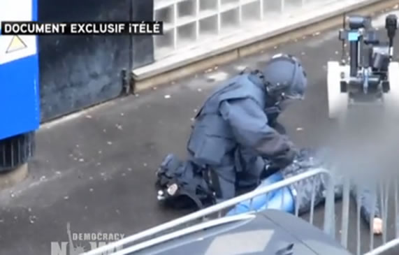 France: Police Fatally Shoot Man Accused of Attacking Police Station. Image: video still.