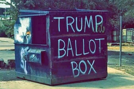 """This """"ballot box"""" was discovered in Dallas, Texas. Photo by Post Memes / CC."""