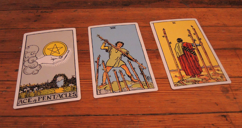 Three card spread.