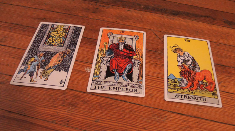 Three card spread.