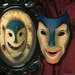 """""""Masks and a Mirror"""" by Rob Moore."""