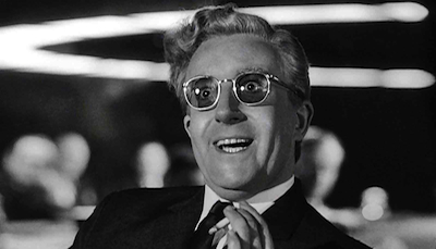 Peter Sellers as the titular Dr. Strangelove in Stanley Kubrick's classic nuclear war satire.