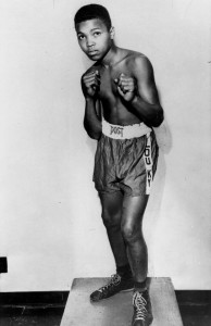 Cassius Clay started to box at 12, after his new $60 red Schwinn bicycle was stolen off a downtown street. Credit: Associated Press.