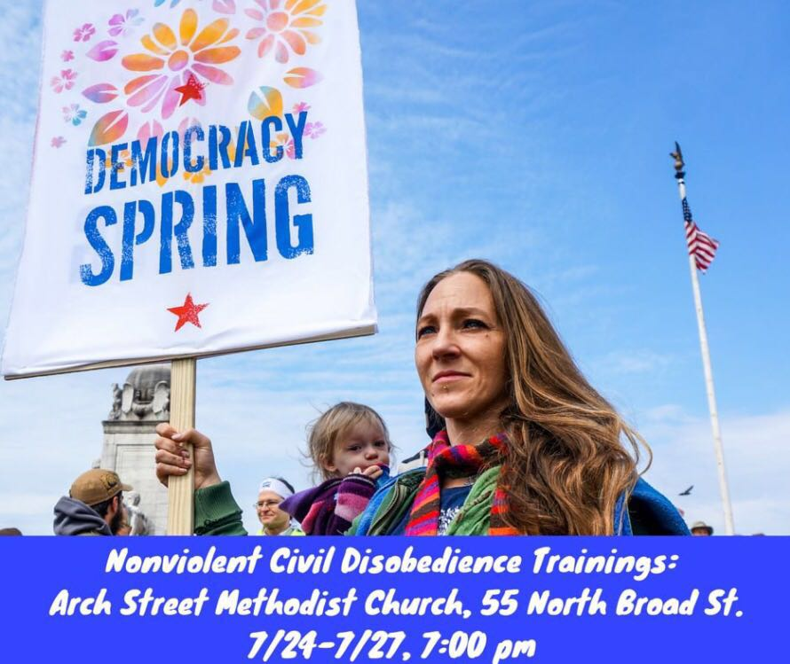 Democracy Spring, an organization that fights corruption in politics through non-violent actions, is holding trainings nightly during the DNC.