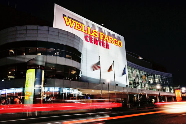 The Wells Fargo Convention Center in Philadelphia, where the Democratic National Convention was held.