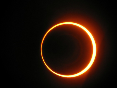 Photo of the Oct. 3, 2005, annular solar eclipse taken from Spain. Photo by Sancho Panza/Flickr/Creative Commons.