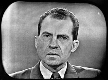 Nixon during his debate with Kennedy, 1960.