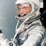 John Glenn in his Mercury pressure suit in preparation for launch of the Mercury Atlas 6 (MA-6) rocket. Photo: NASA