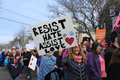 Photo from the Jan. 21, 2017, march in Portland, Maine, by Amanda Painter.