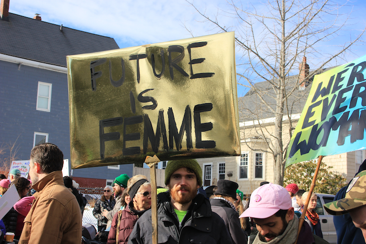 """Future is Femme"" and ""We're Every Woman."" Photo by Amanda Painter."