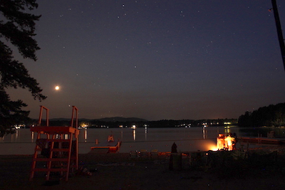 Crescent Moon and beach bonfire at Dance New England late last week. Photo by Amanda Painter.