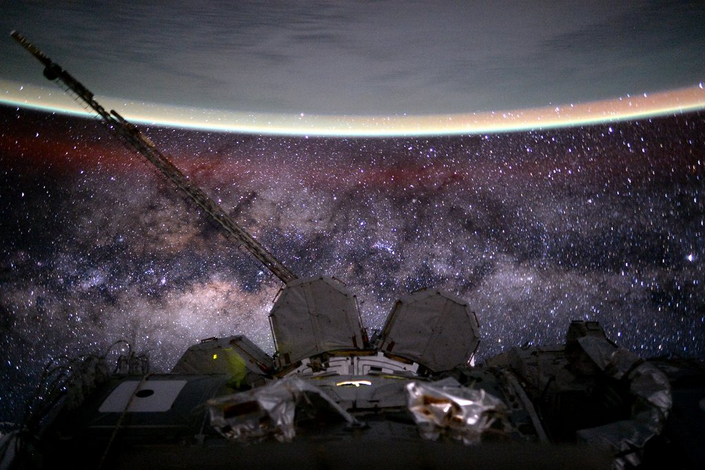 Milky Way and Earth from space