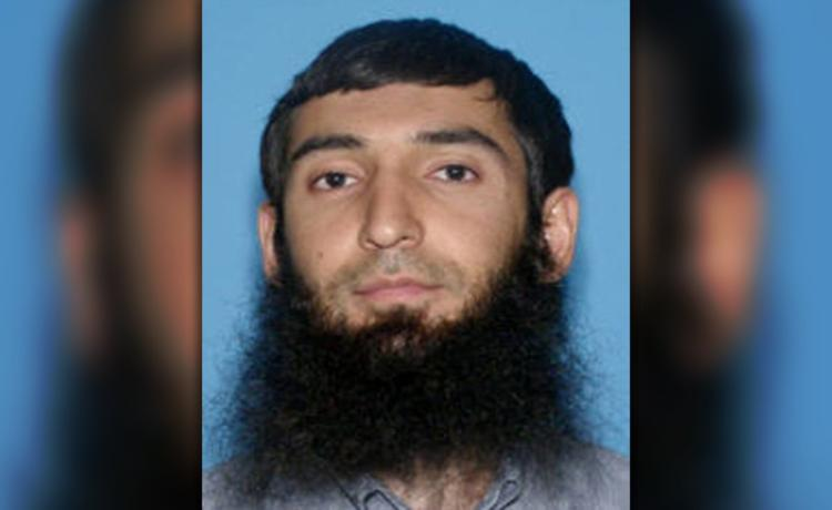 Police photo of Sayfullo Saipov, suspect in the NYC terrorists attacks of Halloween.