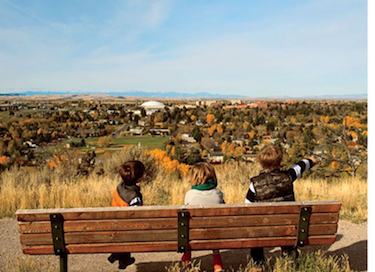 The view from Black Elk's bench; photo by Steve Guettermann.