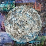 Earth Under a Full Moon; collage by Stacy Bergener.