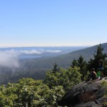 Above the edge of the fog bank on Bald Peak in Camden Hills State Park, Maine. Photo by Amanda Painter.