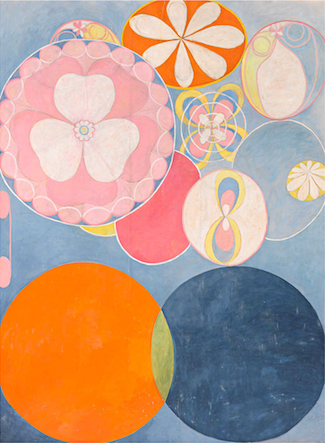 "No. 2 from Group IV of ""the ten biggest ones""; tempera on paper over canvas by Hilma af Klint (1862-1944)."