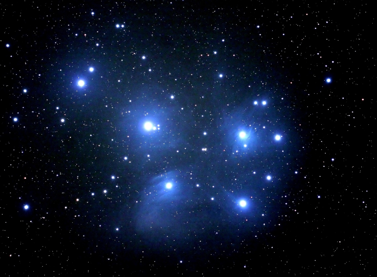 The Pleaides cluster, also known as the Seven Sisters.