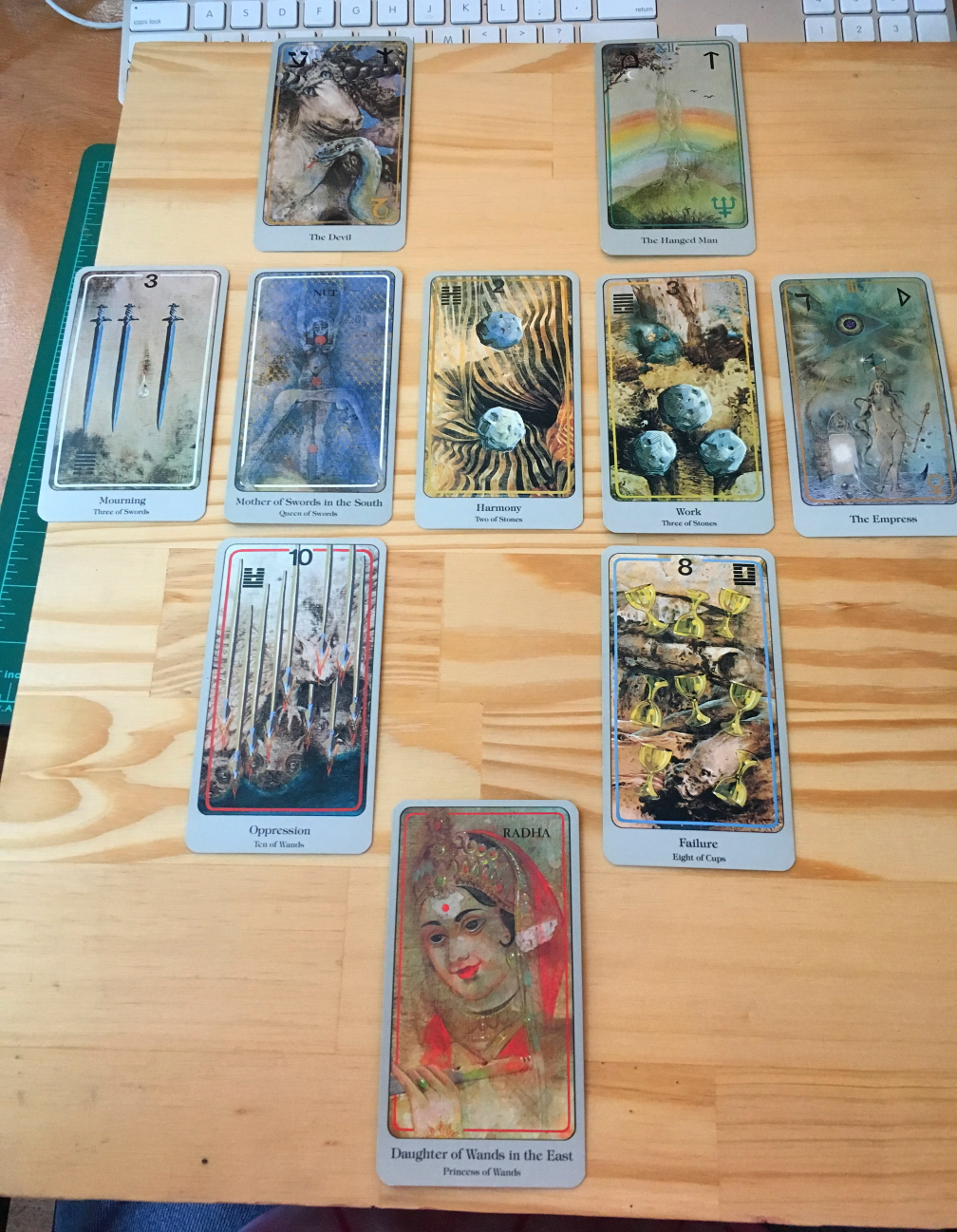 Tarot spread for Virgo. Click image for larger version.